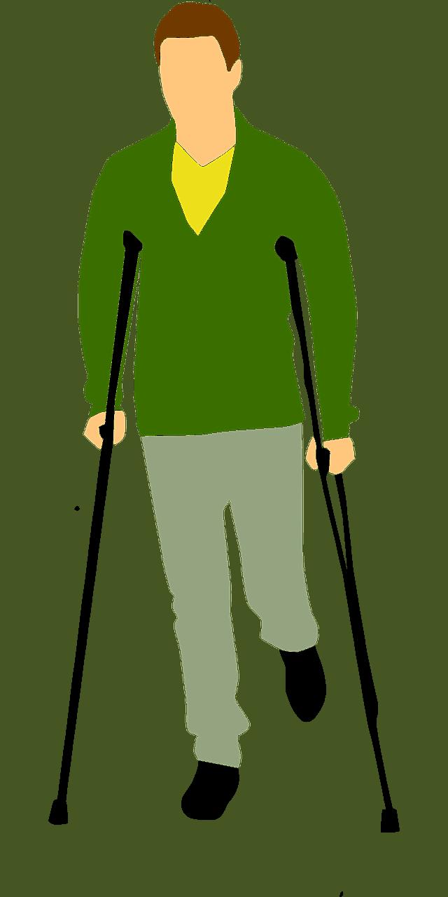 איש עם קביים