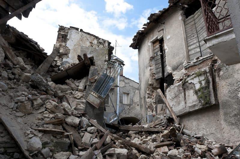 מבנה לאחר רעידת אדמה