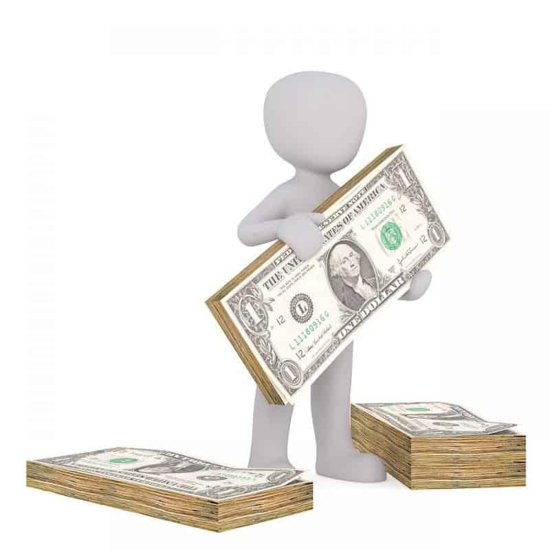 איש עם כסף